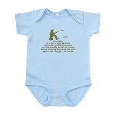 Humorous Fishing Infant Bodysuit