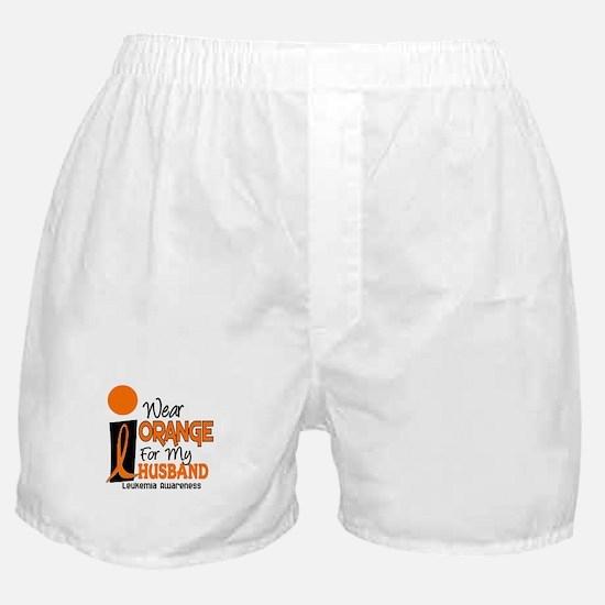 I Wear Orange For My Husband 9 Leukemia Boxer Shor