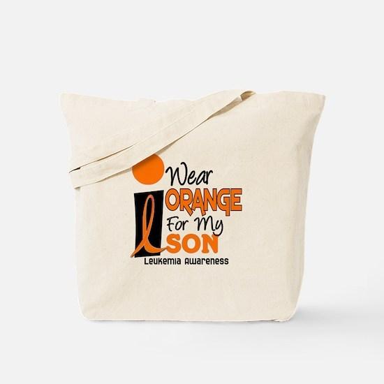 I Wear Orange For My Son 9 Leukemia Tote Bag