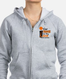 I Wear Orange For My Son 9 Leukemia Zip Hoodie