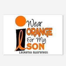 I Wear Orange For My Son 9 Leukemia Postcards (Pac