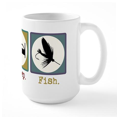 Eat Sleep Fly Fish Large Mug