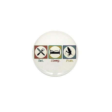 Eat Sleep Fly Fish Mini Button (100 pack)