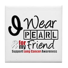 Lung Cancer Friend Tile Coaster