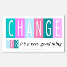 Change, a good thing Rectangle Decal