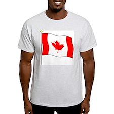 Canada Flagpole Ash Grey T-Shirt