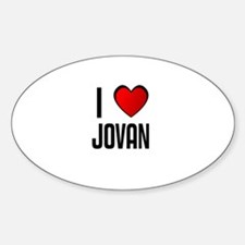 I LOVE JOVAN Oval Decal