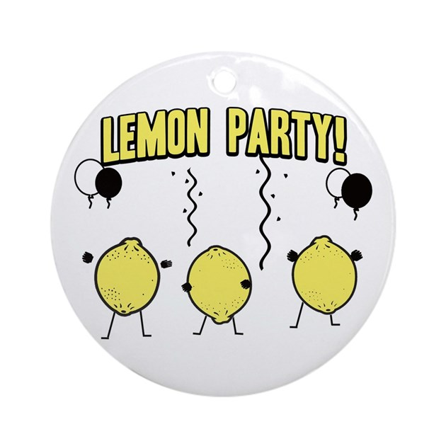 Lemon Party Ornament (Round) By Cultclassicts