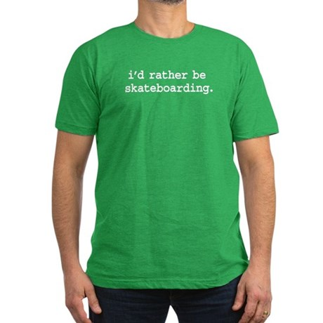 i'd rather be skateboarding. Men's Fitted T-Shirt