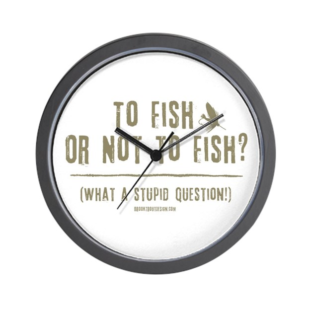 To fly fish wall clock by brooktrout for Fish wall clock
