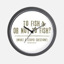 To Fly Fish Wall Clock