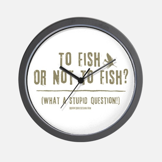 To Fly Fish Wall Clock