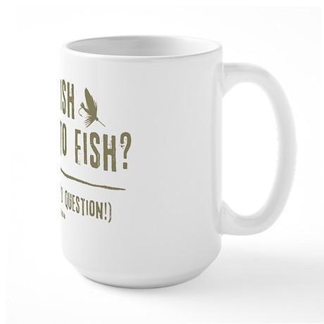 To Fly Fish Large Mug