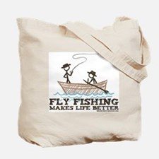 To Fly Fish Tote Bag