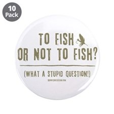 """To Fly Fish 3.5"""" Button (10 pack)"""