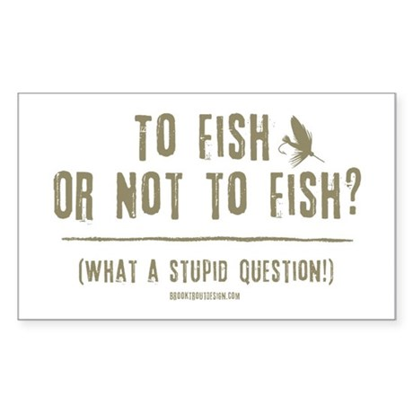 To Fly Fish Rectangle Sticker