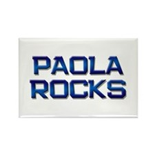 paola rocks Rectangle Magnet