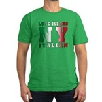 Long Island Italian Men's Fitted T-Shirt (dark)