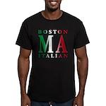 Boston Italian Men's Fitted T-Shirt (dark)