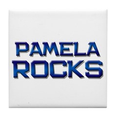 pamela rocks Tile Coaster