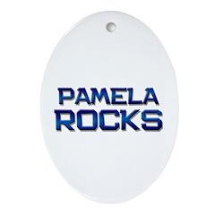 pamela rocks Oval Ornament