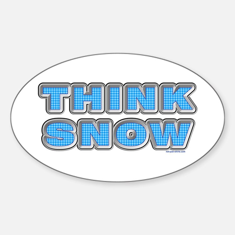 Think Snow Oval Decal