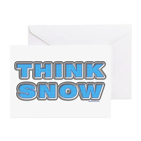 Think Snow Greeting Cards (Pk of 20)