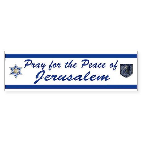 Pray For Jerusalem 2 Bumper Sticker