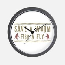 Save a Worm Wall Clock