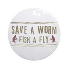 Save a Worm Ornament (Round)
