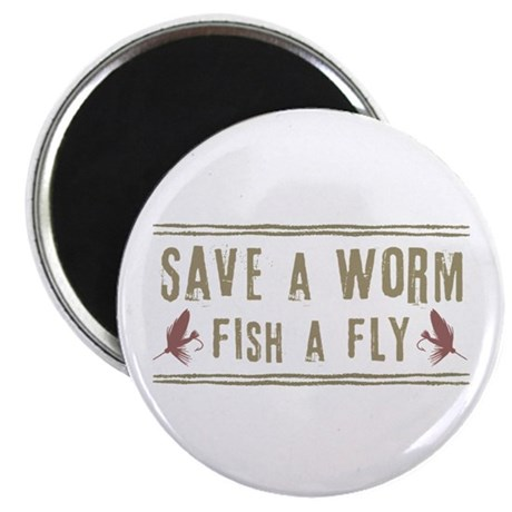 """Save a Worm 2.25"""" Magnet (100 pack)"""