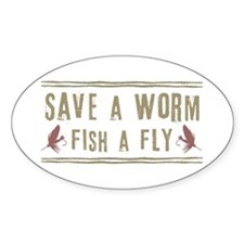 Save a Worm Oval Decal