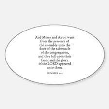 NUMBERS 20:6 Oval Decal