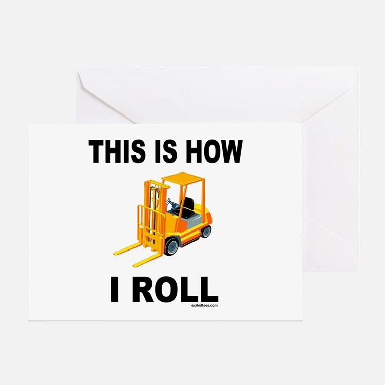 FORKLIFT OPERATOR Greeting Card