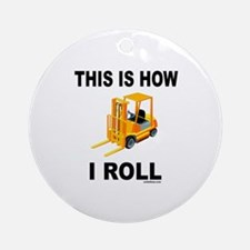 FORKLIFT OPERATOR Ornament (Round)