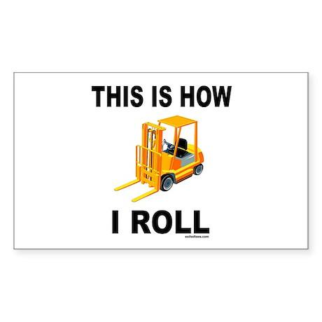 FORKLIFT OPERATOR Rectangle Sticker