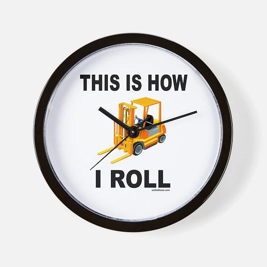 FORKLIFT OPERATOR Wall Clock