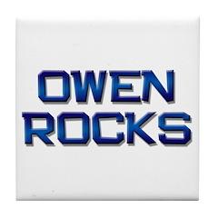owen rocks Tile Coaster
