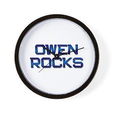 owen rocks Wall Clock