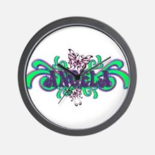 Angela's Butterfly Name Wall Clock