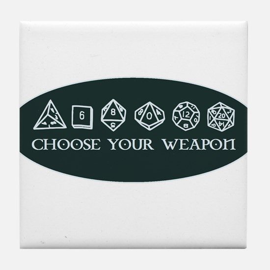 Retro gaming - choose your weapon Tile Coaster