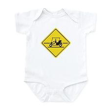 Caution Golf Car, Tennessee, USA Infant Bodysuit