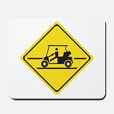 Caution Golf Car, Tennessee, USA Mousepad
