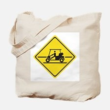 Caution Golf Car, Tennessee, USA Tote Bag