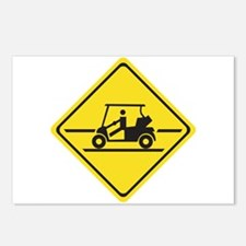 Caution Golf Car, Tennessee, USA Postcards (Packag