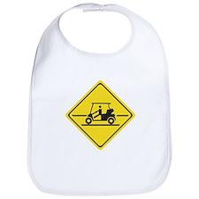 Caution Golf Car, Tennessee, USA Bib