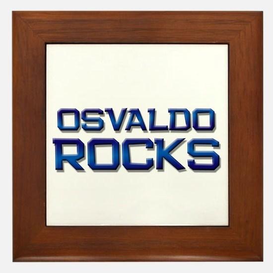 osvaldo rocks Framed Tile