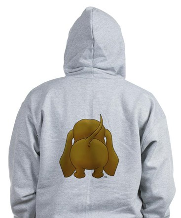 Big Nose/Butt Dachshund Zip Hoody