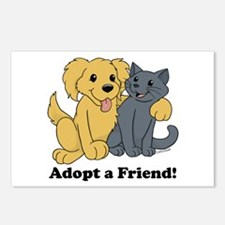 Adopt a Friend! Postcards (Package of 8)