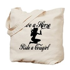 Save a Horse Ride a Cowgirl Tote Bag